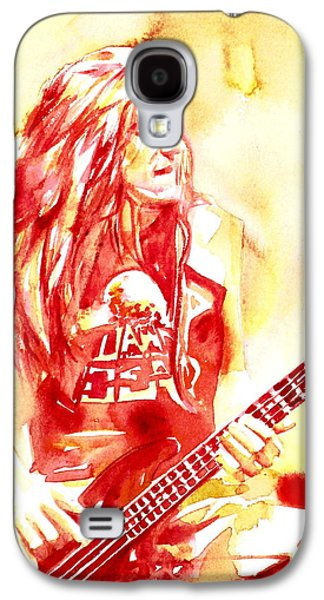 Metallica Galaxy S4 Cases - Cliff Burton Playing Bass Guitar Portrait.1 Galaxy S4 Case by Fabrizio Cassetta