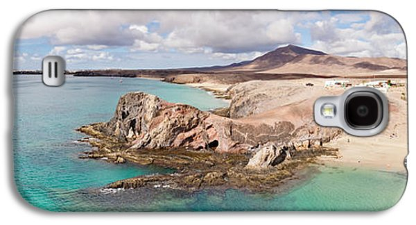 Beach Landscape Galaxy S4 Cases - Cliffs On The Beach, Papagayo Beach Galaxy S4 Case by Panoramic Images