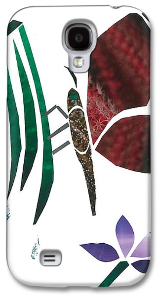 Invertebrates Mixed Media Galaxy S4 Cases - Clinging Butterfly Galaxy S4 Case by Earl ContehMorgan