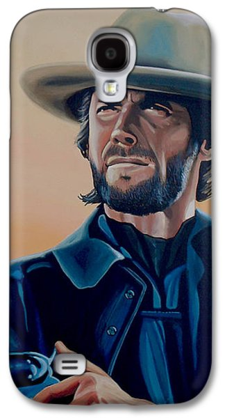 Clint Eastwood Painting Galaxy S4 Case by Paul Meijering