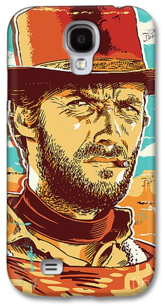 Dirty Digital Art Galaxy S4 Cases - Clint Eastwood Pop Art Galaxy S4 Case by Jim Zahniser