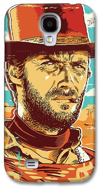 Dirty Galaxy S4 Cases - Clint Eastwood Pop Art Galaxy S4 Case by Jim Zahniser