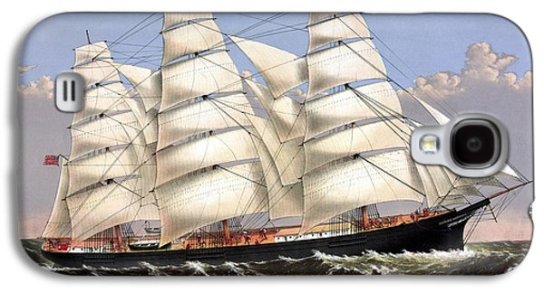 Sailing Ships Galaxy S4 Cases - Clipper Ship Three Brothers Galaxy S4 Case by War Is Hell Store