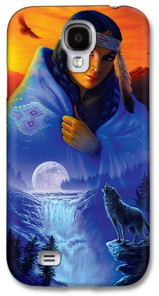 Girl Galaxy S4 Cases - Cloak of Visions Portrait Galaxy S4 Case by Andrew Farley