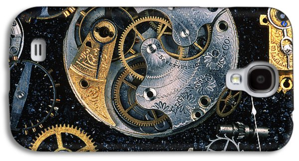 Mechanism Galaxy S4 Cases - Clock Parts Galaxy S4 Case by Gregory G. Dimijian
