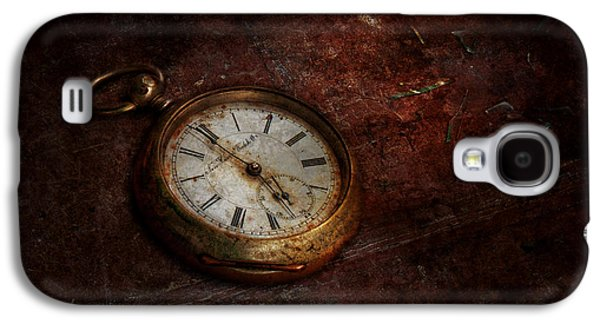 Clock - Time Waits Galaxy S4 Case by Mike Savad