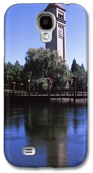 Built Structure Galaxy S4 Cases - Clock Tower At Riverfront Park Galaxy S4 Case by Panoramic Images