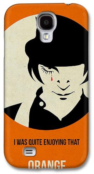 Orange Mixed Media Galaxy S4 Cases - Clockwork Orange Poster Galaxy S4 Case by Naxart Studio