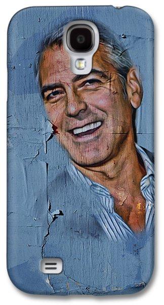 Clooney On Board Galaxy S4 Case by Yury Malkov