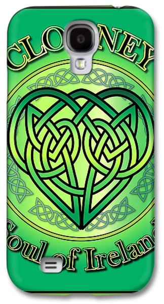 Clooney Galaxy S4 Cases - Clooney Soul of Ireland Galaxy S4 Case by Ireland Calling