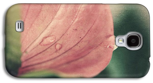 Textured Floral Galaxy S4 Cases - Close to Falling Galaxy S4 Case by Laurie Search