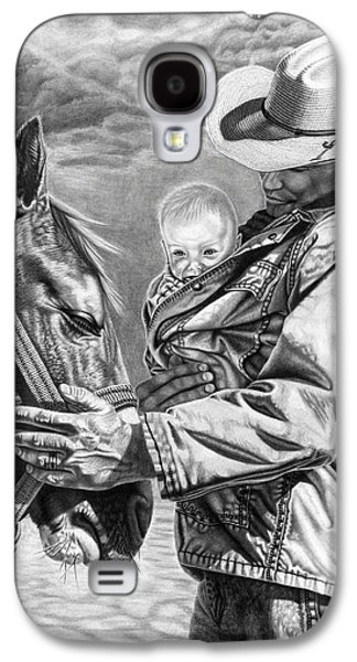 Westerns Drawings Galaxy S4 Cases - Close To The Heart Galaxy S4 Case by Glen Powell