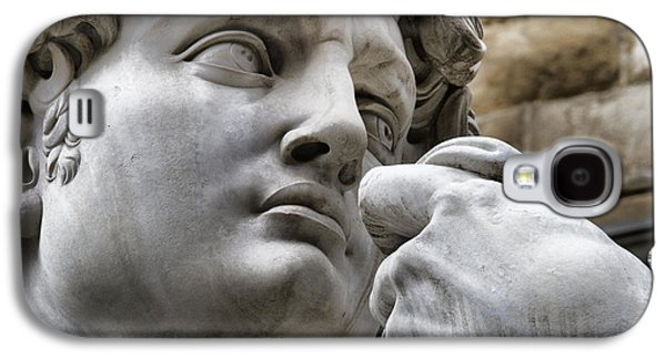 Close Galaxy S4 Cases - Close-up face Statue of David in Florence Galaxy S4 Case by David Smith