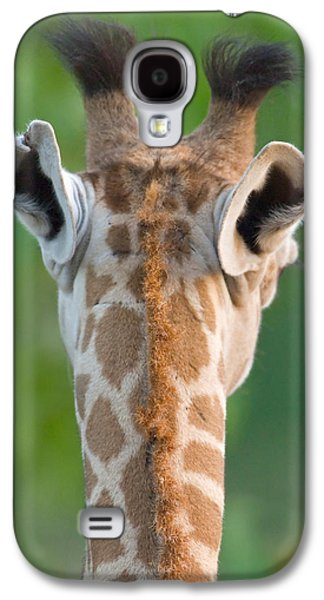 Behind The Scenes Photographs Galaxy S4 Cases - Close-up Of A Masai Giraffe, Lake Galaxy S4 Case by Panoramic Images