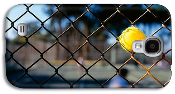 Tennis Photographs Galaxy S4 Cases - Close-up Of A Tennis Ball Stuck Galaxy S4 Case by Panoramic Images
