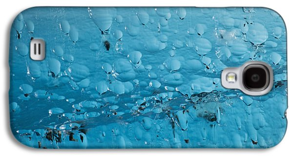 Nature Abstracts Galaxy S4 Cases - Close Up Of Air Bubbles In Iceberg Galaxy S4 Case by Ray Bulson