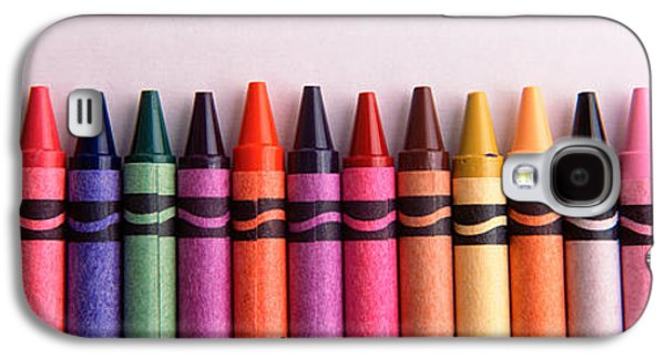 Studio Photography Galaxy S4 Cases - Close-up Of Assorted Wax Crayons Galaxy S4 Case by Panoramic Images
