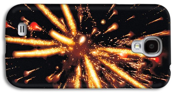 Computer Generated Galaxy S4 Cases - Close Up Of Ignited Fireworks Galaxy S4 Case by Panoramic Images