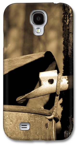 Maine Farms Galaxy S4 Cases - Closeup of a Maple tap Galaxy S4 Case by Edward Fielding