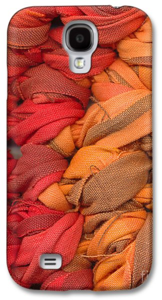 Abstract Tapestries - Textiles Galaxy S4 Cases - Closeup of crochet rag rug Galaxy S4 Case by Kerstin Ivarsson