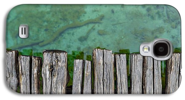Nature Abstract Galaxy S4 Cases - Closeup photo of wooden floor panels Galaxy S4 Case by Oliver Sved