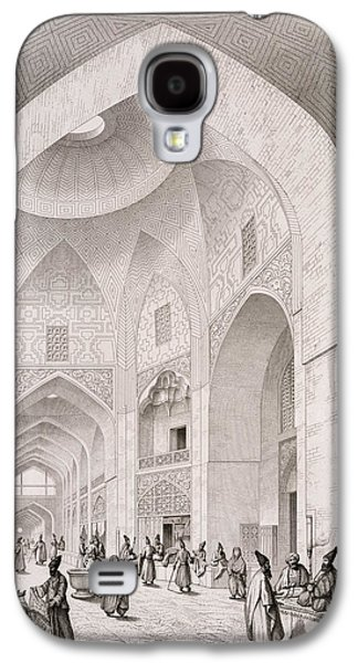 Plans Paintings Galaxy S4 Cases - Cloth Market in Isfahan Galaxy S4 Case by Pascal Xavier Coste