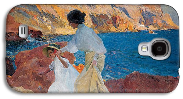 Posters On Paintings Galaxy S4 Cases - Clotilde and Elena on the Rocks Galaxy S4 Case by Joaquin Sorolla y Bastida