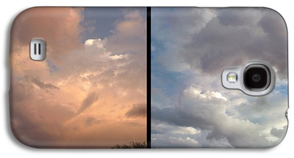 Storm Digital Art Galaxy S4 Cases - Cloud Diptych Galaxy S4 Case by James W Johnson