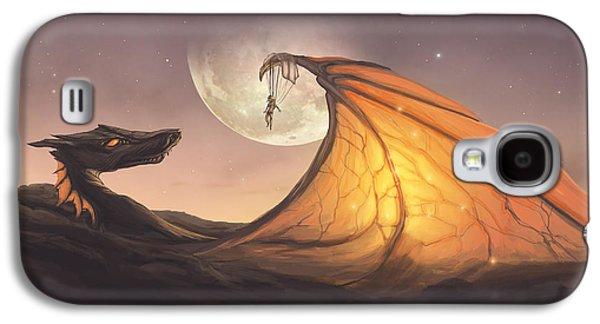 Phantasie Galaxy S4 Cases - Cloud Dragon Galaxy S4 Case by Cassiopeia Art