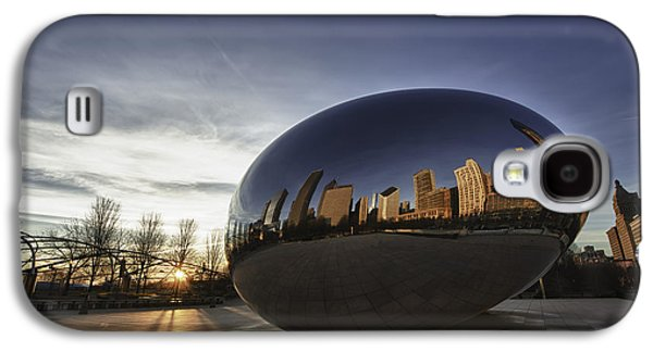 Sun Galaxy S4 Cases - Cloud Gate at Sunrise Galaxy S4 Case by Sebastian Musial