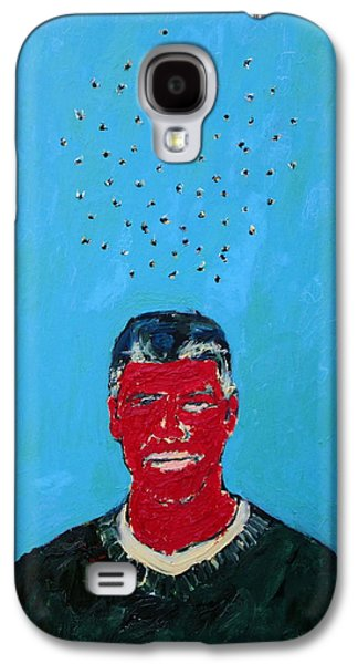 Clooney Galaxy S4 Cases - CLOUD of FLIES OVER RED GEORGE Galaxy S4 Case by Fabrizio Cassetta
