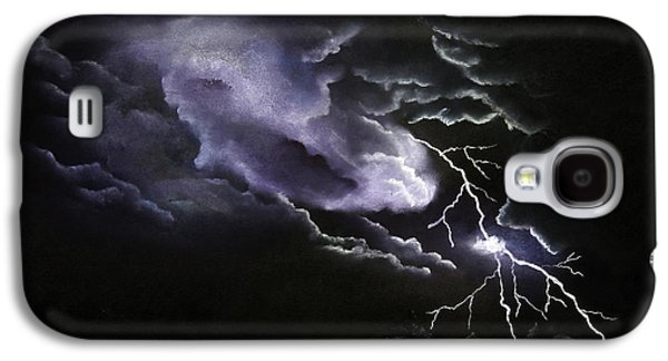 Storm Pastels Galaxy S4 Cases - Cloud to Ground Galaxy S4 Case by Cynthia Lassiter