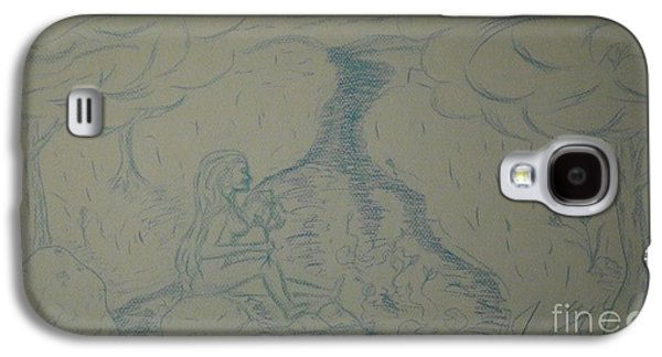 Etc. Drawings Galaxy S4 Cases - Cloud Tree Pond Galaxy S4 Case by James Eye