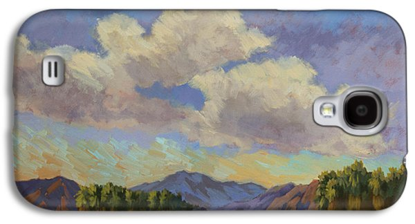 Clouds Paintings Galaxy S4 Cases - Clouds at Coachella Valley Galaxy S4 Case by Diane McClary