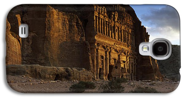 Petra Galaxy S4 Cases - Clouds Beyond The Palace Tomb, Wadi Galaxy S4 Case by Panoramic Images