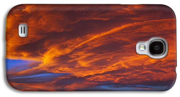 Taos Galaxy S4 Cases - Clouds In The Sky At Sunset, Taos, Taos Galaxy S4 Case by Panoramic Images