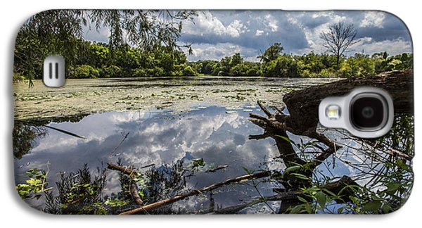 Nature Center Pond Galaxy S4 Cases - Clouds on the Water Galaxy S4 Case by CJ Schmit