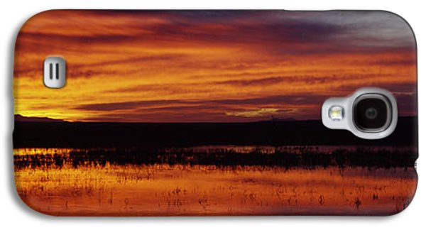 Wildlife Refuge. Galaxy S4 Cases - Clouds Over A Lake, Bosque Del Apache Galaxy S4 Case by Panoramic Images