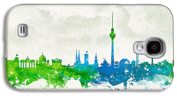 Architecture Mixed Media Galaxy S4 Cases - Clouds Over Berlin Germany Galaxy S4 Case by Aged Pixel