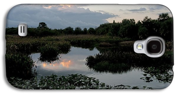 Nature Center Galaxy S4 Cases - Clouds Over Green Cay Wetlands Galaxy S4 Case by Mark Newman