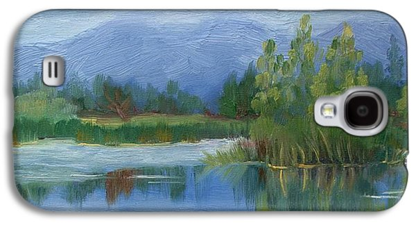 Walden Pond Galaxy S4 Cases - Cloudy day at Walden Ponds Galaxy S4 Case by Margaret Bobb