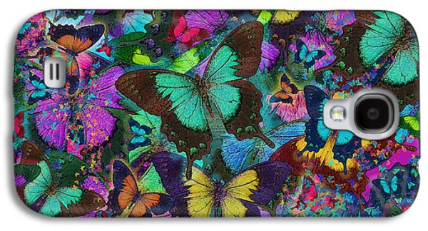 Alixandra Mullins Galaxy S4 Cases - Cloured Butterfly Explosion Galaxy S4 Case by Alixandra Mullins