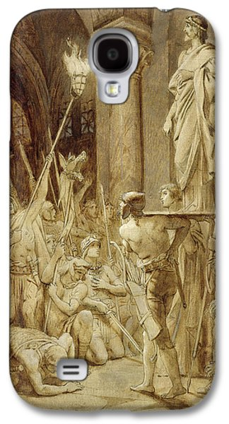The Followers Galaxy S4 Cases - Clovis 465-511 Carried On His Shield Oil On Canvas Galaxy S4 Case by Joseph Paul Blanc