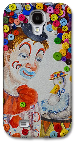 Clown And Duck With Buttons Galaxy S4 Case by Garry Gay