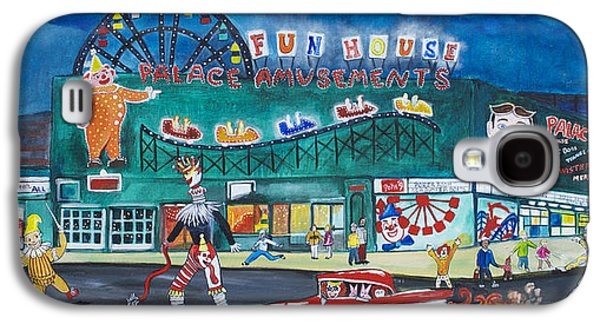 Asbury Park Paintings Galaxy S4 Cases - Clown Parade at the Palace Galaxy S4 Case by Patricia Arroyo
