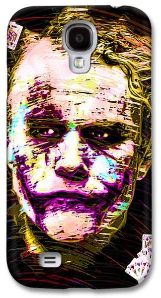 Joker Dark Knight Heath Ledger Movie Actor Galaxy S4 Cases - Clown with Zero Empathy Galaxy S4 Case by Daniel Janda