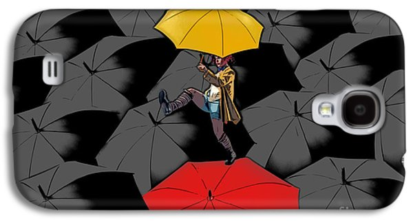 Aimelle Galaxy S4 Cases - Clowning on Umbrellas 01 - a11 Galaxy S4 Case by Variance Collections