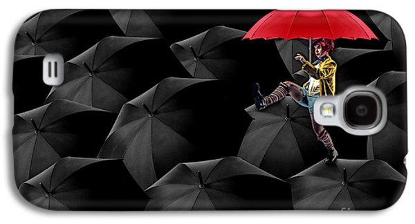 Umbrellas Digital Galaxy S4 Cases - Clowning on Umbrellas 02 -a13 Galaxy S4 Case by Variance Collections