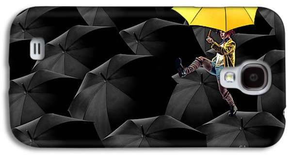 Aimelle Galaxy S4 Cases - Clowning on Umbrellas 03-a13-1 Galaxy S4 Case by Variance Collections