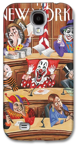 Clowns, Fools And Jokers Preside Over Congress Galaxy S4 Case by Mark Ulriksen